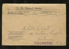 NEW ZEALAND 1936 OFFICIAL RETURNED LETTER DLO ENVELOPE WELLINGTON MACHINE CANCEL