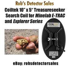 "Coiltek 10"" x 5"" Treasureseeker Search Coil for Minelab E-TRAC, Explorer, Safari"