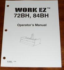New Holland Work Ez 72bh 84bh Box Blade Operators Manual