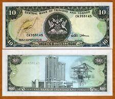 Trinidad and Tobago, 10 dollars, 1985, P-38 (38d), UNC