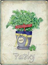 Nouveau 30x40cm Parsley Herb Pot rétro large métal publicitaire Mural Signe