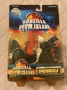 godzilla doom island spacegodzilla poseable action figure 97 toho china w/card