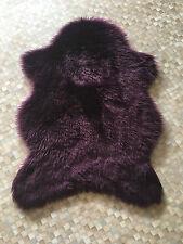 Plain Soft Faux Fur Sheepskin Flokati Like Pelt Shape Fluffy Rug Mat 70 x 100cm