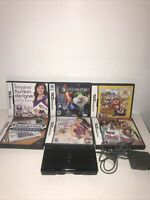 Nintendo Ds Lite  (USG-001) Black With Charger And 6 Games An Manual Tested Work