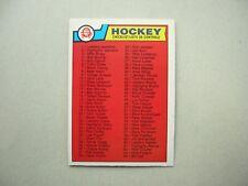 1983/84 O-PEE-CHEE NHL HOCKEY CARD #134 FIRST CHECKLIST NM SHARP!! 83/84 OPC