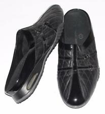 COLE HAAN~NIKE AIR~PATENT LEATHER *QUILTED LEATHER* COMFORT TRAVEL CLOG SHOES~10