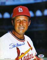 STAN MUSIAL PSA DNA COA Autographed 8x10 Photo  Hand Signed Authentic