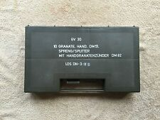 hand grenade storage box ex army surplus mod military