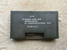 handgrenade storage box ex army surplus mod miliary