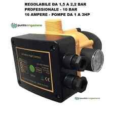 Presscontrol Pressostato elettronico autoclave REGOLABILE 1,5/2,2 BAR 16 Ampere