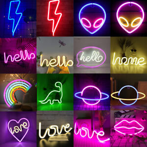 Neon Sign Light LED Wall Lights Art Decor Lamp for Kids Bedroom Home Bar Party