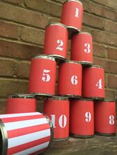 Tin Can Alley Carnival Game Set Of 12 Labels Fair Ground Wedding Game