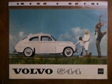 VOLVO PV 544 orig 1961 USA Mkt Sales Brochure - PV544