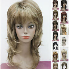 14 colors Layered Women Ladies Medium Long Natural Daily wig Cosplay wigs