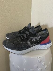Nike Epic React Flyknit Mens Running Shoes Sneakers AQ0067-006 Red Gray Sz 10.5