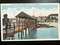Vintage Postcard>1922>View from the Pier>Ocean Beach>New London>Connecticut