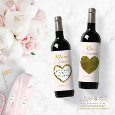 4 X PERSONALISED WINE LABEL SCRATCH OFF SURPRISE BABY PREGNANCY ANNOUNCEMENT