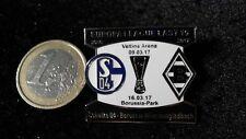 Match Pin S04 Schalke 04 Borussia Mönchengladbach Euroleague schwarz weiss 16/17
