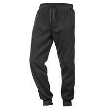 Men's Fleece Lined Jogger Draw String Sweat Pants Running Active 2 Side Pockets