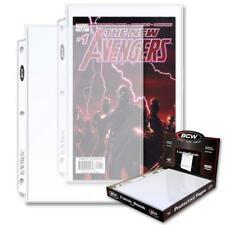 Lot of 50 BCW Pro 1 Pocket Acid Free Comic Book Album Pages binder sheets