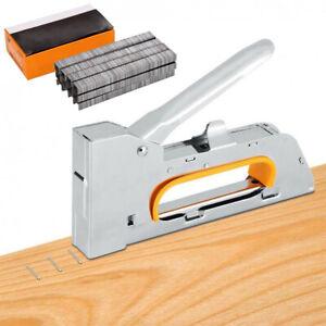 Heavy Duty Nailer Tacker 4/6/8mm Staple Gun Upholstery Stapler Staples Set
