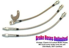 STAINLESS BRAKE HOSE SET Ford Torino 1972 1973 1974, with 250 & 302 engines