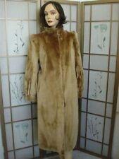MINT ARCTIC BEAVER FUR COAT WOMEN 8-10