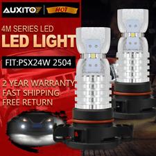 2504 PSX24W Xenon White LED Headlight Bulbs Fog Drving Light DRL For Dodge Jeep