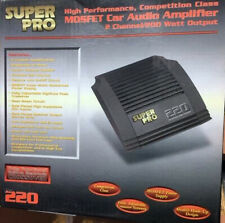 AMP SUPER PRO220, Car Audio Stereo Amplifier 12V, 220W 2CH (BRAND NEW)