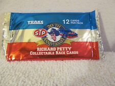 RICHARD PETTY 20TH ANNIV. STP COLLECTABLE RACE CARDS 12 PER PACK FROM TRAKS