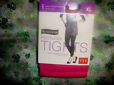 NO NONSENSE SUPER OPAQUE CONTROL TOP FOOTLESS TIGHTS-BRILLIANT ROSE-X-LARGE-NIP