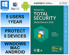 Kaspersky Total Internet Security 2016 Multi Device 5 Users 1 Year FFP DVD