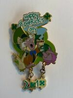 DLP Paris St. Patrick's Day 2010 Mad Hatter Alice In Wonderland Disney Pin LE B9