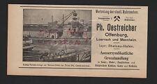OFFENBURG, Werbung 1912, Ph. Oestreicher Grosshandlung für Kohlen Koks Brikets