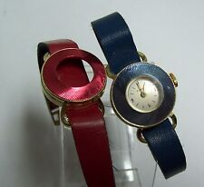 Vintage Blue Metallic TIMEX 60's Windup Watch - Second Band Red