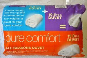 All-Season Alternative Comforter-Luxurious Duvet-NEW  15.0 TOG {10.5+4.5 TOG}