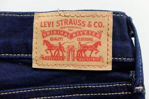Womens Levi's 710 super skinny denim blue jeans | Stretched to *W30 L32