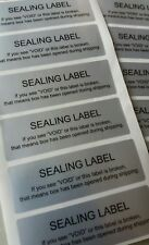 40x SECURITY SEALING LABELS, TAMPER EVIDENT,VOID ,WARRANTY STICKERS