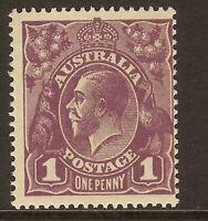 5/. KGV 1d purple Mint unhinged