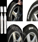 PAINT PEN TWO White Marker Waterproof Permanent Car Tire Lettering Rubber Letter