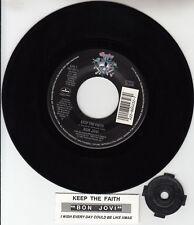 "BON JOVI  Keep The Faith  7"" 45 rpm record BRAND NEW + juke box title strip"