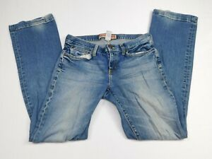 Gap Womens Blue Long And Lean Stretch Denim Regular Fit Straight Jeans Size 8 L