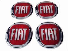 FIAT Felgen Aufkleber Nabendeckel Nabenkappen Silikon Logo 4x60 mm Satz
