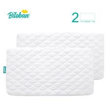 "Toddler Baby Crib Mattress Cover Waterproof Comfort Soft Pad 52""x 28"", 2 Pack"