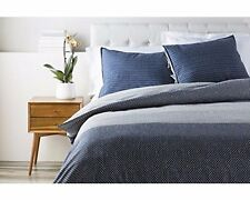 Surya Japiko Woven Cotton King Duvet Set in Navy