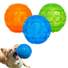 Safe Silicone Chew Toys for Dogs Chewing Squeaker Ball Squeaky Sound Cat Playing