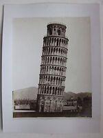 1880ca TORRE DI PISA Enrico Van Lint foto albumina originale d'epoca 26 x 20 cm