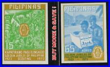 PHILIPPINES 1974 SCOUTS imperforated SC#1221-22a MNH