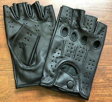 HALF FINGER GENUINE LEATHER GLOVES | DRIVING | MOTORCYCLE | WORKOUT