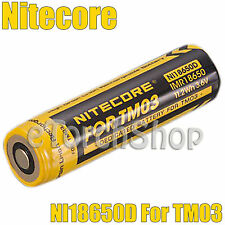 NiteCore 1x NI18650D 3.7v 18650 Rechargeable Li-ion Dedicated Battery For TM03
